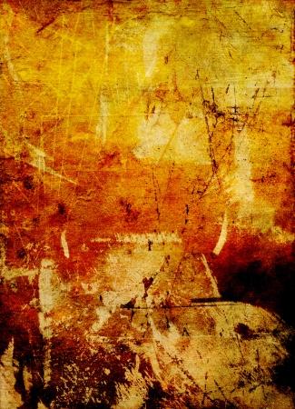 oil paints: rayar el acr�lico y �leo capas - esgrafiado Foto de archivo