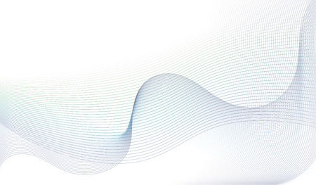 abstract light blue wavy lines on a white background