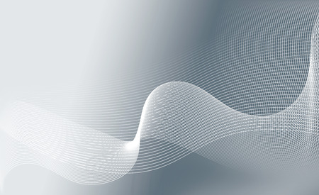 abstract white wavy lines on a gray background