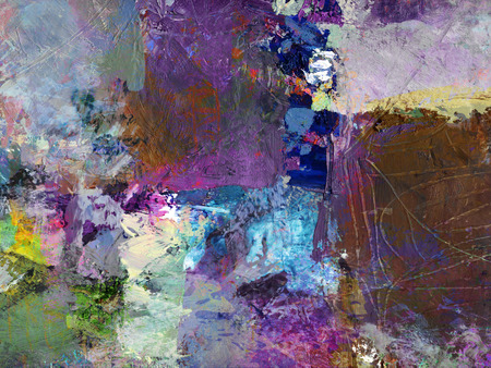 abstract multicolor layer artwork, opaque and transparent oil paint textures on canvas Stock Photo