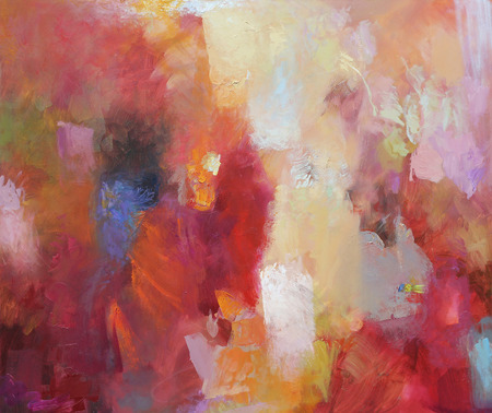 abstract art - oil paints on canvas Imagens