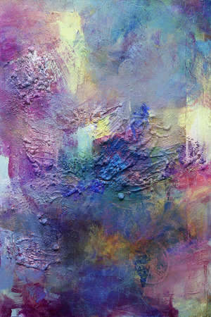 hand geschilderd op doek in verschillende kleuren en texturen Stockfoto