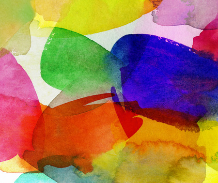 brushstrokes: bright multicolor watercolor brushstrokes on paper