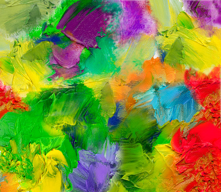 multicolor oil paint textures on canvas structure