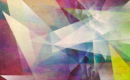 abstract mixed media - gemaakt door het combineren van verschillende lagen verf en texturen