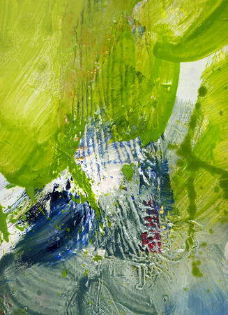 abstract multicolor layer artwork, opaque and transparent oil paint textures on canvas Stock fotó