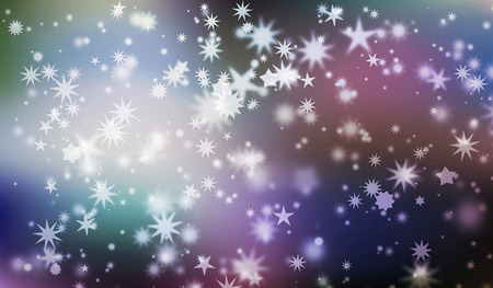 vary: Vary shaped white stars on blurred background