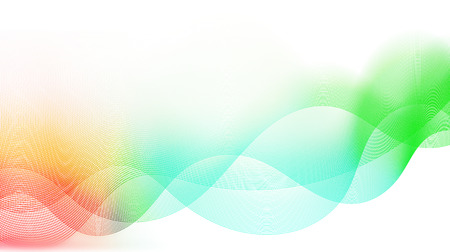 diffuse: abstract colorful waves and smooth curves
