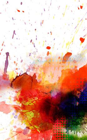 pattern grunge: colorful paint splash on white background
