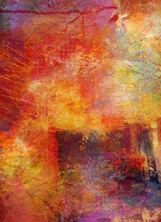 abstract multicolor layer artwork, opaque and transparent oil paint textures on canvas 版權商用圖片