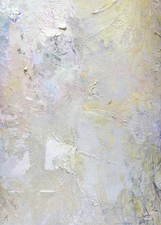 抽象レイヤーのアートワーク、キャンバスに不透明部分と透明のオイル ペイントの模様 写真素材