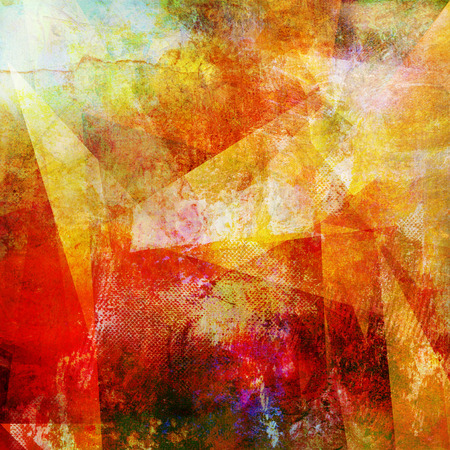 combining: abstract mixed media - created by combining different layers of paint and textures