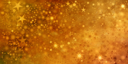 gold textures: christmas card design with stars in golden colors and different shapes Stock Photo
