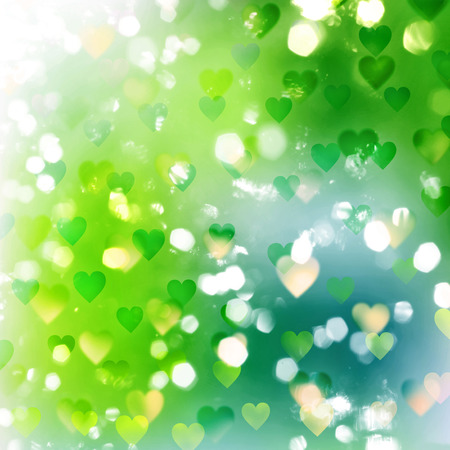 colours tints: abstract nature background with transparent hearts and lights pattern