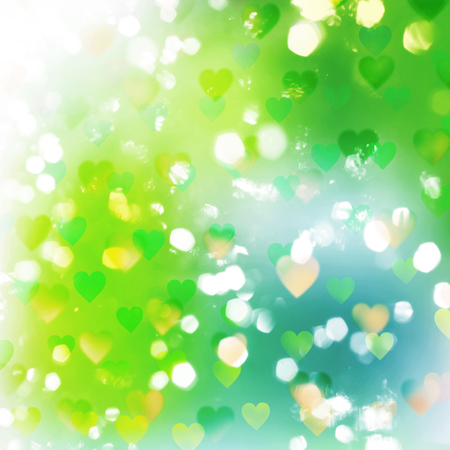 tints: abstract nature background with transparent hearts and lights pattern
