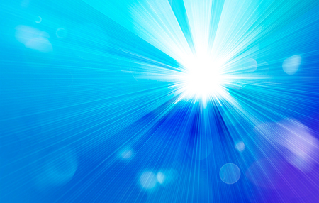 sunbeam background: illustrated streaming sunlight with bokeh lights pattern