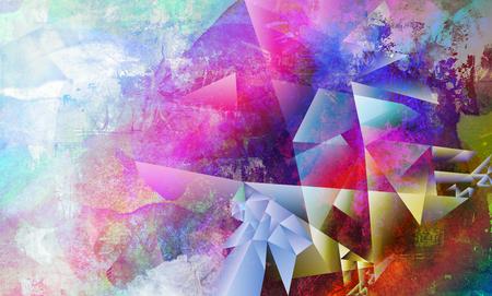cuadros abstractos: técnicas mixtas abstractas contemporáneas creadas mediante la combinación de diferentes capas de pintura y texturas
