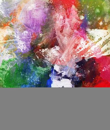texture: abstracte kleurrijke schilderij met vlekken en splatter texturen