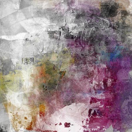pintura abstracta: ilustraciones de las técnicas mixtas decorativo abstracto