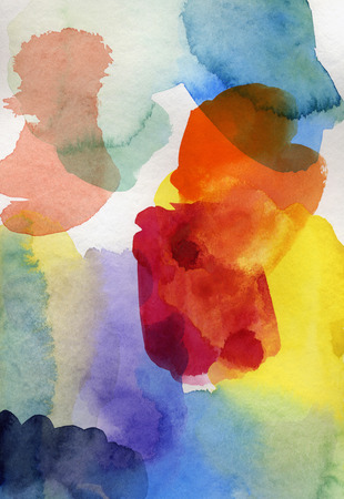 paper textures: abstract colorful watercolor and gouache in different tones and textures on paper