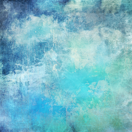 painted background: clouds on blue sky background with added textures