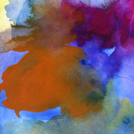 paper textures: abstract watercolor and gouache in different tones and textures on paper