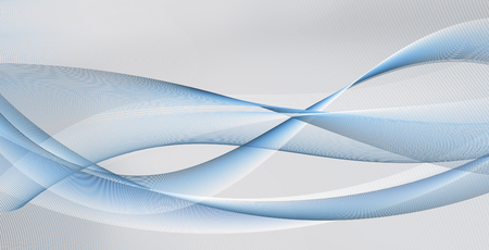 diffuse: abstract motion waves and smooth curves on white, blue and gray background