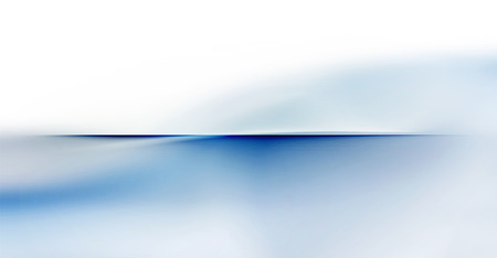 partially: abstract partially blurred motion waves and smooth curves on white and blue horizon background