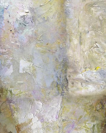Abstract laag kunstwerk, ondoorzichtige en transparante olieverf texturen op canvas Stockfoto