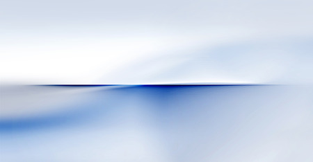 blurred motion: abstract partially blurred motion waves and smooth curves on white and blue horizon background