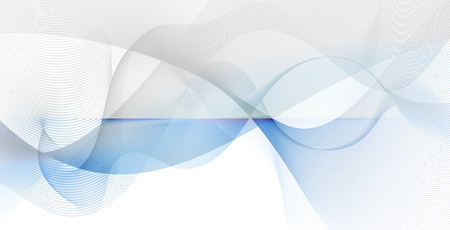 diffuse: abstract motion waves and smooth curves on white and blue background Stock Photo