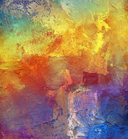 cuadros abstractos: abstracta del arco iris multicolor obra capa de pintura de textura