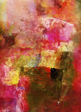 bright paintings: abstract multicolor layer artwork, opaque and transparent oil paint and digital textures on canvas