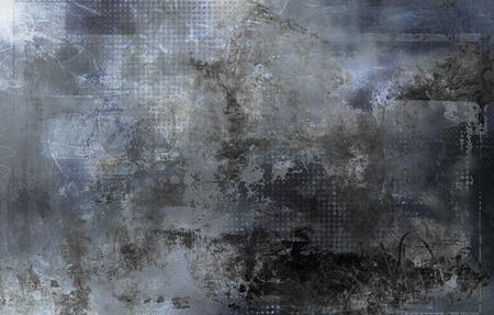 fondo gris abstracta creada usando diferentes fotografías, texturas y capas pintadas a mano