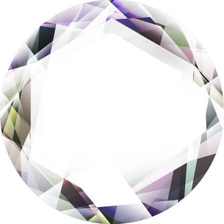 mineral stone: gem, jewel, diamond illustration isolated on a white background Stock Photo