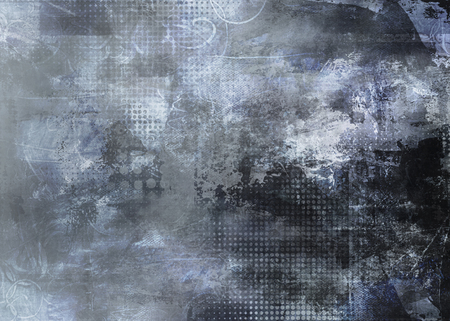 background textures: abstract gray background created by using different photographs, textures and hand painted layers Stock Photo
