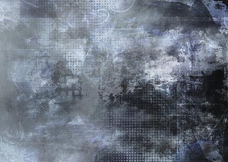 abstracte grijze achtergrond gemaakt door het gebruik van verschillende foto's, texturen en met de hand geschilderd lagen