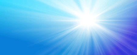 sky blue: illustrated streaming sunlight illustrated on blue sky background Stock Photo