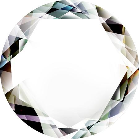 gem, jewel, diamond illustration isolated on a white background Reklamní fotografie