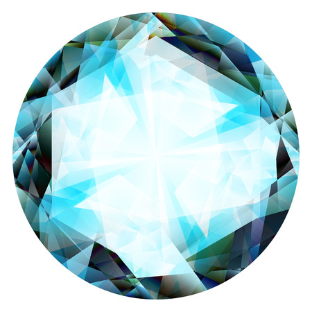 jewels: gem, jewel, diamond illustration isolated on a white background Stock Photo