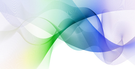 diffuse: abstract colorful waves and smooth curves on white background