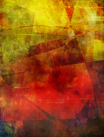 colour image: abstract polygonal background in different yellow, orange and red shades