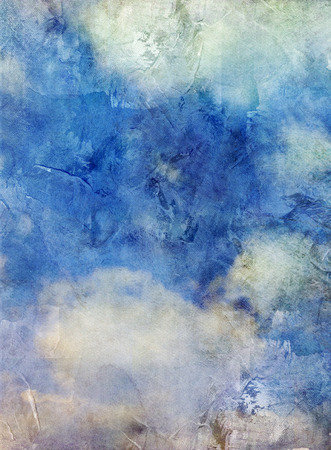 sky blue: clouds on blue sky background with added textures