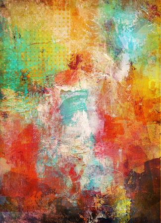 abstract decorative contemporary mixed media artwork Stock Photo
