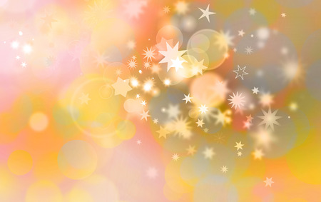 star pattern: christmas card design with stars in pastel golden colors and different shapes