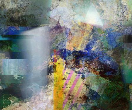 abstract decorative mixed media artwork Stock Photo