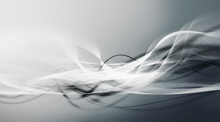 shifting: white and contrasted dark motion lines on light blue gray gradient background Stock Photo