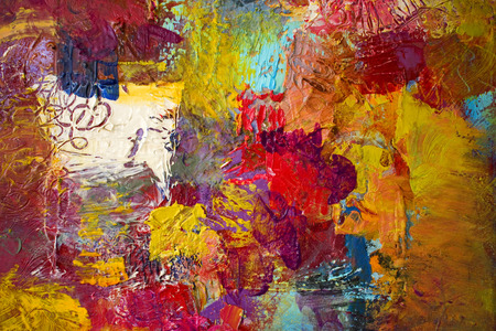 Thick, colorful and opaque acrylic and oil paint textures. Handmade, palette knife and paintbrush art work.