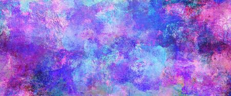 Abstract blue paint textures background created by using different photographs, scans and hand painted layers, acrylics and oils. Art, leisure, subdued, rough, backdrop, banner, panorama. Stock fotó