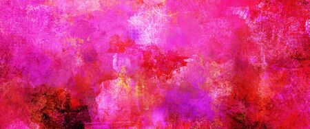 Abstract pink paint textures background created by using different photographs, scans and hand painted layers, acrylics and oils. Art, leisure, rough, backdrop, banner, panorama.